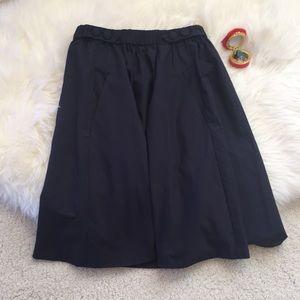 ZARA BASICS Navy Blue Skirt w/Button Detail